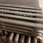 Radiador de estufa, arenado