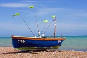 barco de pesca de madera