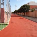Repintado de la pista de atletismo de Castalla