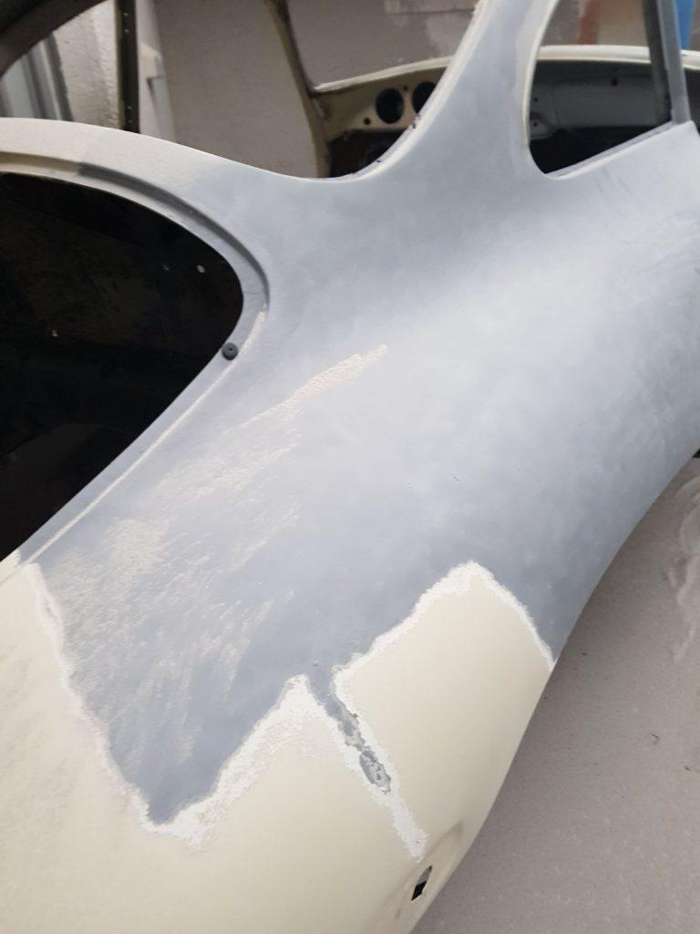 Arenado de coches antiguos para su restauración