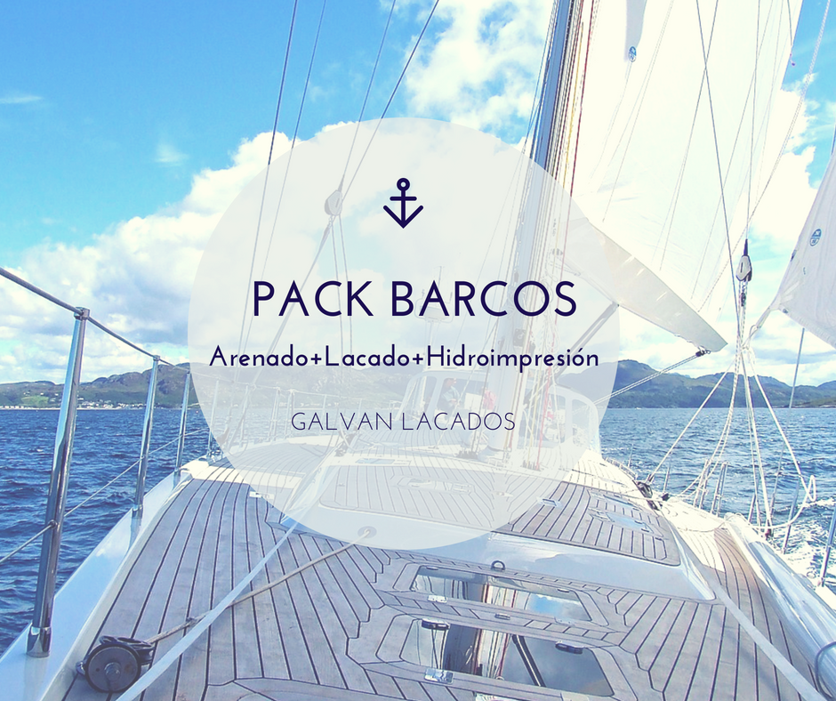 Pack barcos 2018: arenado + lacado + hidroimpresion