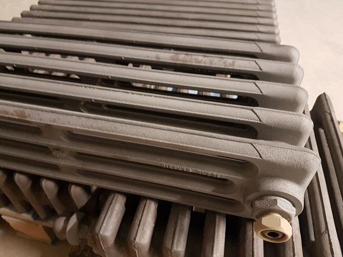 Arenado de radiadores para su limpieza