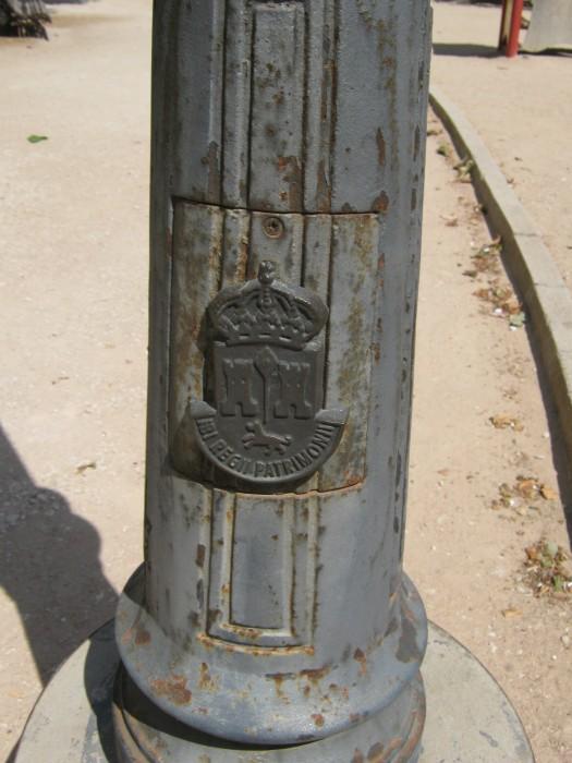 detalle de farola en parque derramador de ibi
