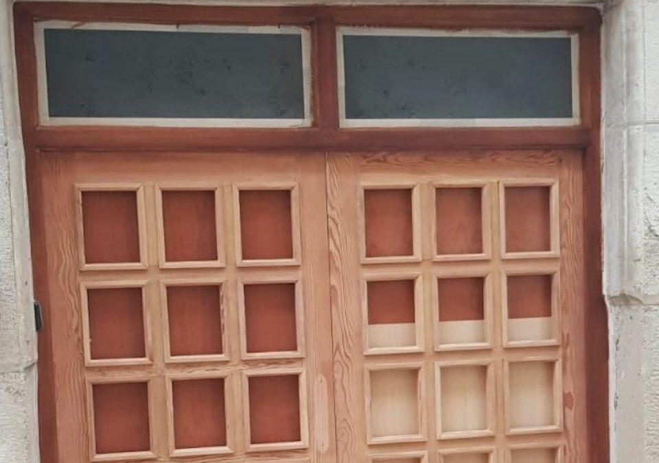 Restauración de portón en Castalla
