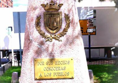 Arenado del monumento al donante de sangre de Castalla
