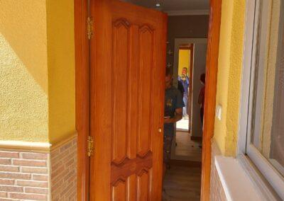 Restauración de puerta de entrada a vivienda de Ibi (Alicante)